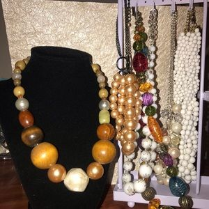 Chunky beaded necklaces bundle